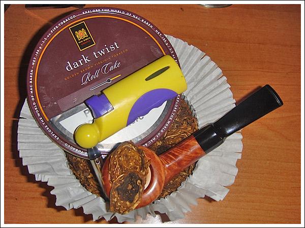 Dark Twist Roll Cake